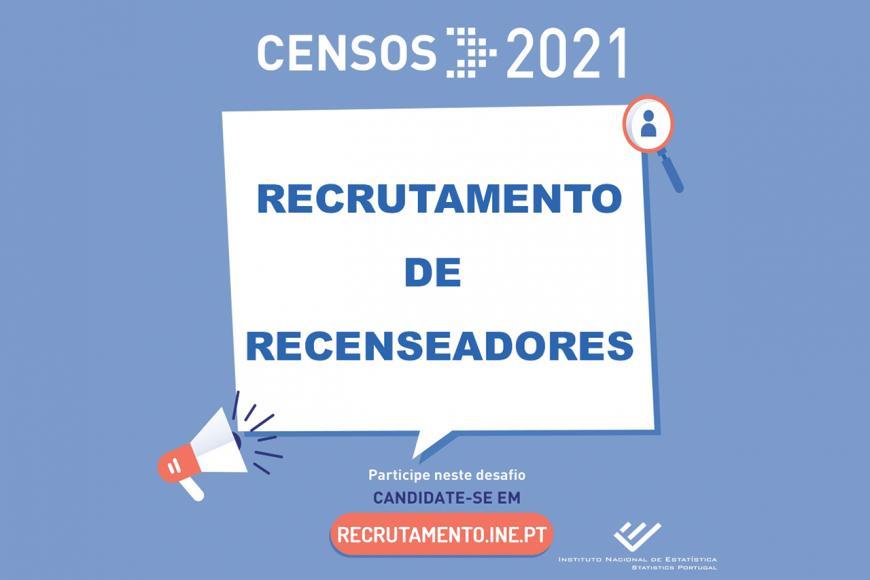 Recrutamento de Recenseadores - Censos 2021