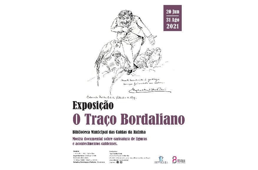 Exposição O TRAÇO BORDALIANO de 20 de Junho a  31 de Agosto na Biblioteca Municipal das Caldas da Rainha