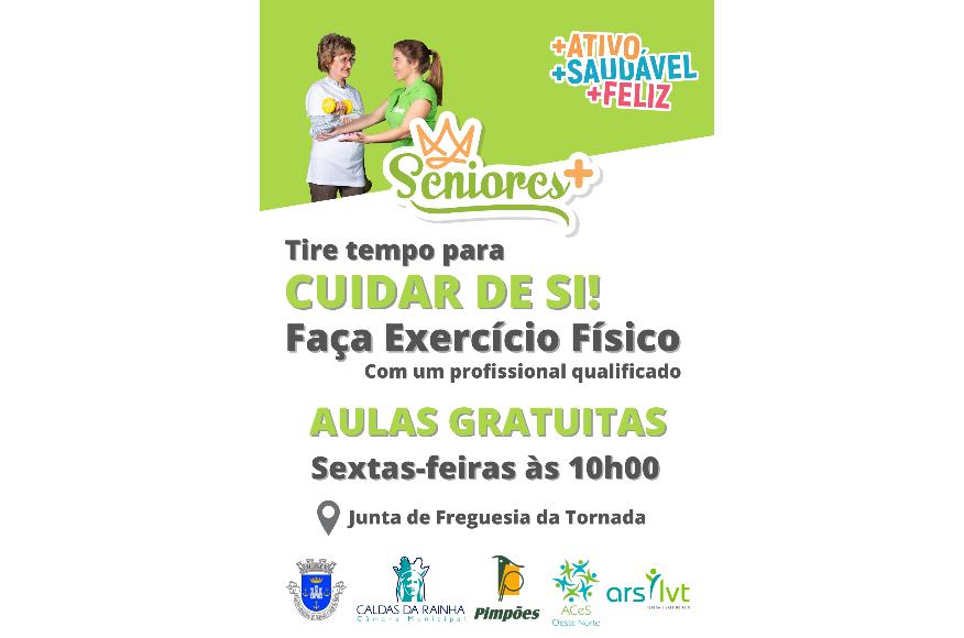 Convidamos a população a participar no programa  SENIORES+, todas as sextas feiras pelas 10h00 no Largo do Rossio em Tornada.